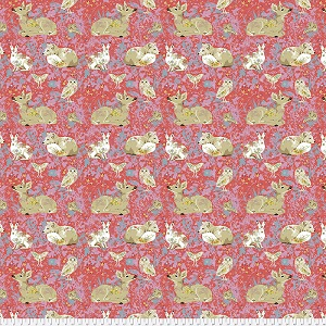 Freespirit Fabrics Land Art Mini Enchanted Forest in Rose