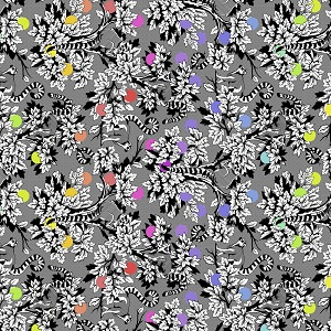 Freespirit Fabrics Tula Pink Linework Lemur Me Alone in Ink *** PRE-ORDER - ARRIVING JANUARY 2021 ***