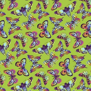 Freespirit Fabrics Tula Pink Daydreamer Butterfly Kisses in Avocado *** PRE-ORDER - ARRIVING NOV/DEC 2021 ***