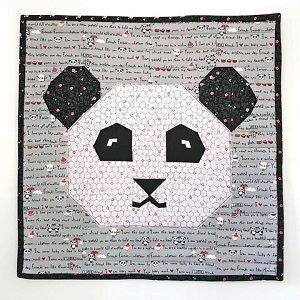 Panda Love Mini Quilt or Pillow Cover Kit (Fabric Only)