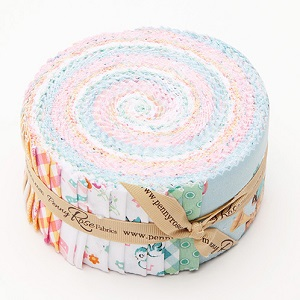Penny Rose Fabrics - Perfect Party - 2.5 Inch Rolie Polie 40 Pieces
