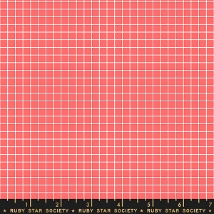 Ruby Star Society Grid in Strawberry *** PREORDER - ARRIVING END OF JULY ***