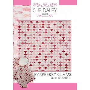 Sue Daley Designs - Raspberry Clams Quilt & Cushion