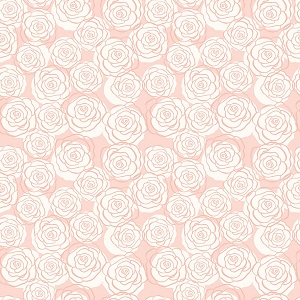 Riley Blake Designs - Bliss Roses in Blush with Rose Gold Metallic Sparkle