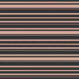 Riley Blake Designs - Bliss Stripes in Black with Rose Gold Metallic Sparkle