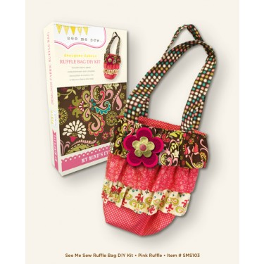 My Mind's Eye - See Me Sew - Ruffle Bag Kit