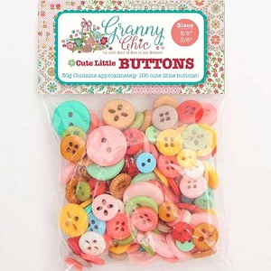 Riley Blake Designs - Lori Holt Cute Granny Chic Little Buttons 100 pack