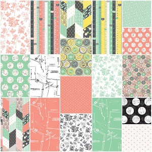 Riley Blake Designs - Sew Charming - Fat Quarter Bundle of 18 Pieces