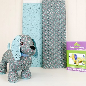 Snags the Dog Softie Kit - Blue Grey
