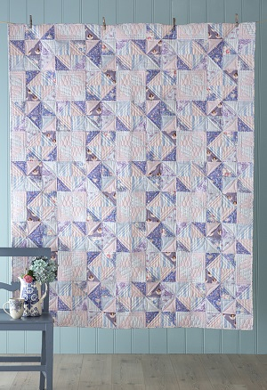 Tilda Old Rose Soft Star Quilt Kit in Lilac / Blue