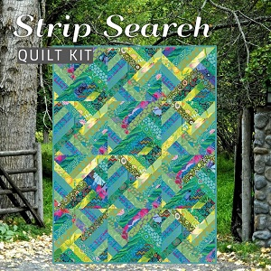 Strip Search Quilt Kit - Featuring Kaffe Fassett Classics in Island