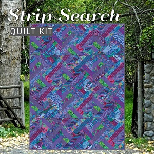 Strip Search Quilt Kit - Featuring Kaffe Fassett Classics in Peacock