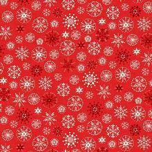 Andover - Scandi Christmas - Snowflakes in Red *** REMNANT PIECE 81CM X 112CM ***