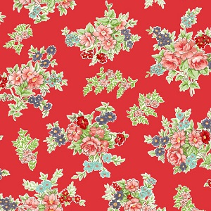 Andover Fabrics - Katie Jane Bouquet in Red