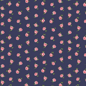 Andover Fabrics - Katie Jane Rose in Blue