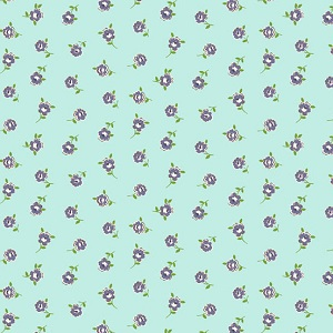 Andover Fabrics - Katie Jane Rose in Teal