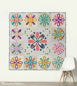 Tied with a Ribbon - Trinket Box Quilt Pattern & Template Set