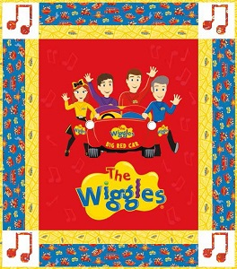 Riley Blake Designs The Wiggles Ready Steady Wiggle! - Big Red Car Panel Quilt Kit