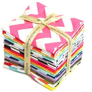 Riley Blake Designs - Cotton Chevron - Fat Quarter Bundle of 24 Pieces