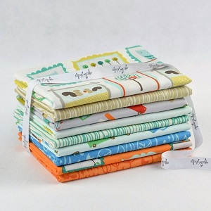 Riley Blake Designs - Scenic Route Fat Quarter Bundle of 9 Pieces