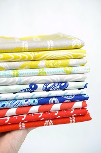 Riley Blake Designs - Nautical Fat Quarter Bundle of 11 Pieces