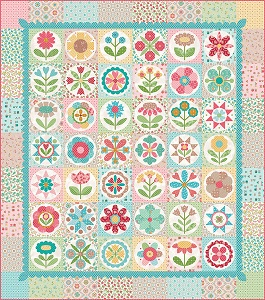 Riley Blake Designs - Granny's Garden Quilt Kit by Lori Holt - 76