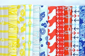 Riley Blake Designs - Nautical Half Metre Bundle of 11 Pieces