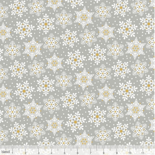 Blend Fabrics - Snowflake Waltz - Land of Snow Grey