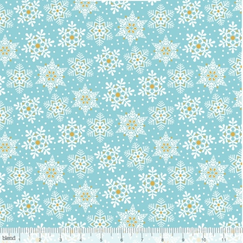 Blend Fabrics - Snowflake Waltz - Land of Snow Blue