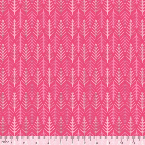 Blend Fabrics - Christmas Dear - Tinsel Trees Pink