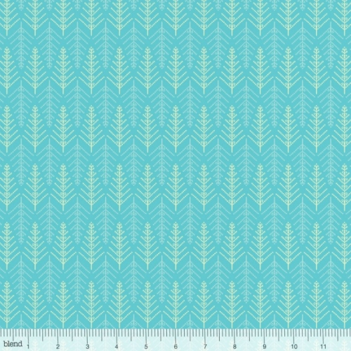 Blend Fabrics - Christmas Dear - Tinsel Trees Blue