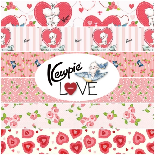 Riley Blake Designs - Kewpie Love 1 Yard Bundle Bundle 6 Pieces in Cream