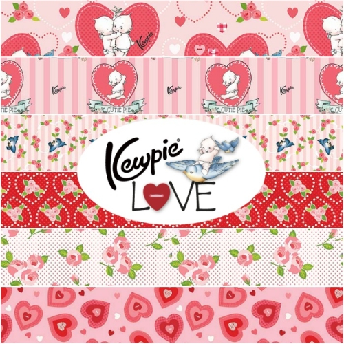 Riley Blake Designs - Kewpie Love 1 Yard Bundle Bundle 6 Pieces in Pink