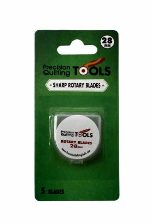 Precision Quilting Tools - Replacement Blades for 28mm Rotary Cutter - Pack of 5 Blades