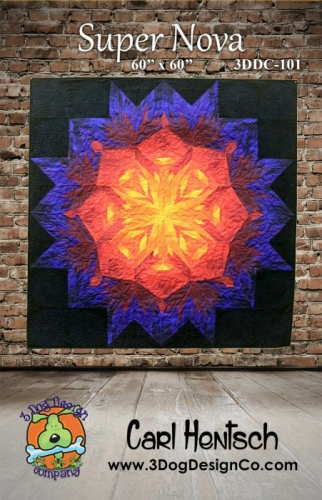 Super Nova Quilt pattern by 3 Dog Design Company