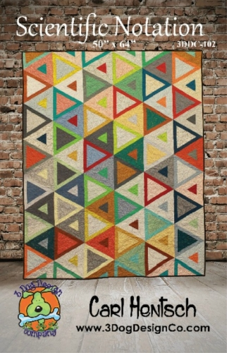 Scientific Notation Quilt pattern by 3 Dog Design Company
