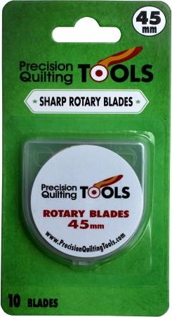 Precision Quilting Tools - Replacement Blades for 45mm Rotary Cutter - Pack of 10 Blades
