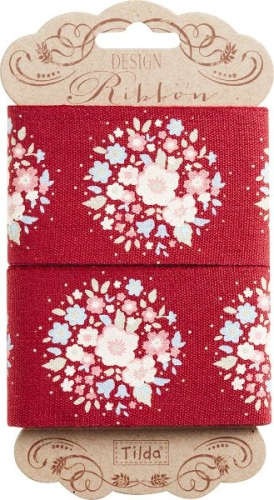 Tilda - Sweetheart Ribbon Red Floral