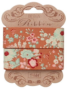 Tilda - Cabbage Rose Lucille Ginger Ribbon 25mm