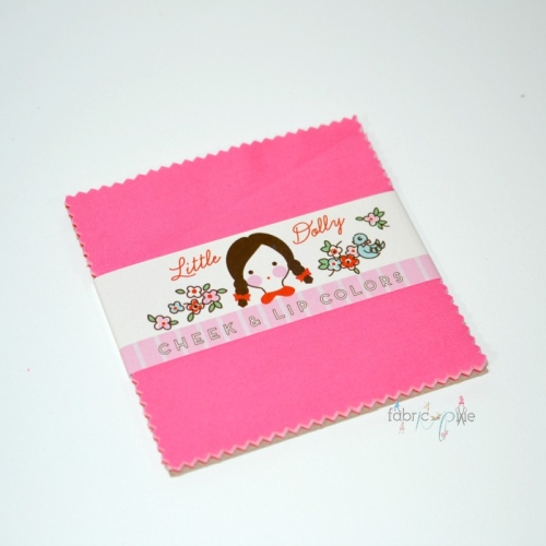 Penny Rose Fabrics - Little Dolly Lip and Cheek Colours - 5 Inch Stacker of 8 Pieces
