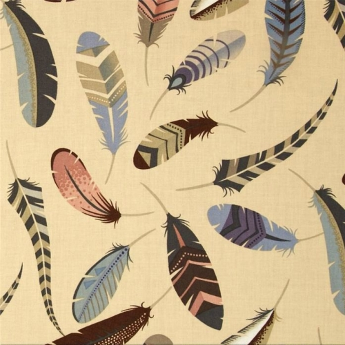 Alexander Henry - Iroquois Feathers in Dove Grey  *** FAT QUARTER ***