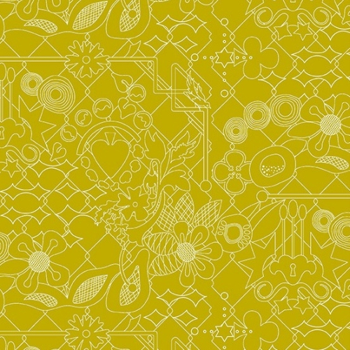 Andover - Sun Print 2017 by Alison Glass Overgrown in Cactus *** FAT QUARTER ***