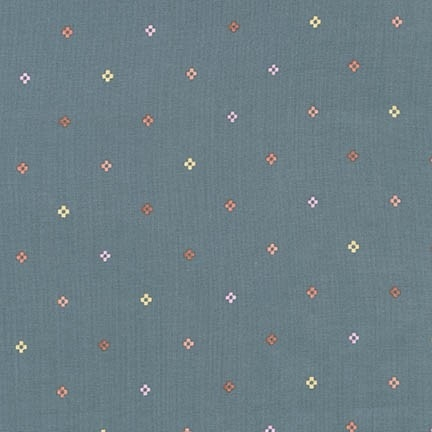 Robert Kaufman - Woodland Clearing Cotton Lawn Pixel Dot Charcoal