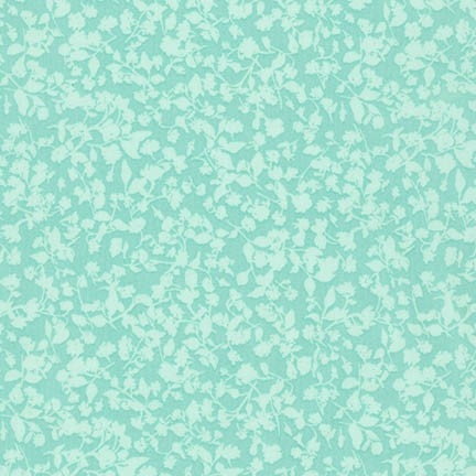 Robert Kaufman - Woodland Clearing Cotton Lawn Tiny Floral Turquoise