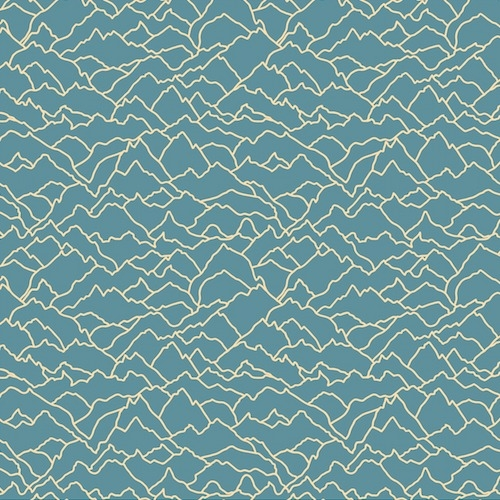 Dashwood Studio - Altitude Alps in Teal *** REMNANT PIECE 89CM X 112CM ***