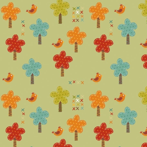 Riley Blake Designs - Giraffe Crossing - Trees in Green