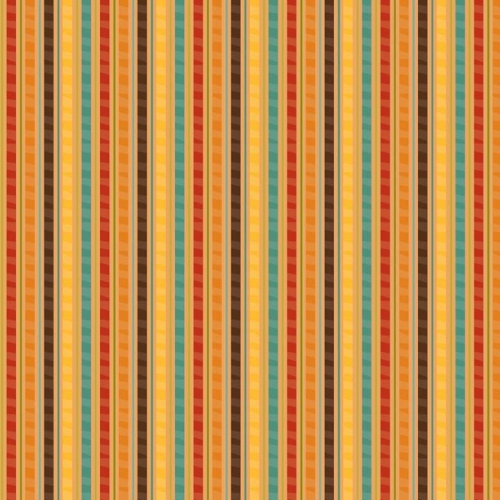 Riley Blake Designs - Giraffe Crossing - Stripe in Orange