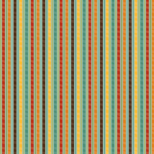Riley Blake Designs - Giraffe Crossing - Stripe in Teal