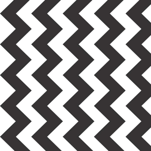 Riley Blake Designs - Medium Chevron in Black - Extra Wide 147cm (58