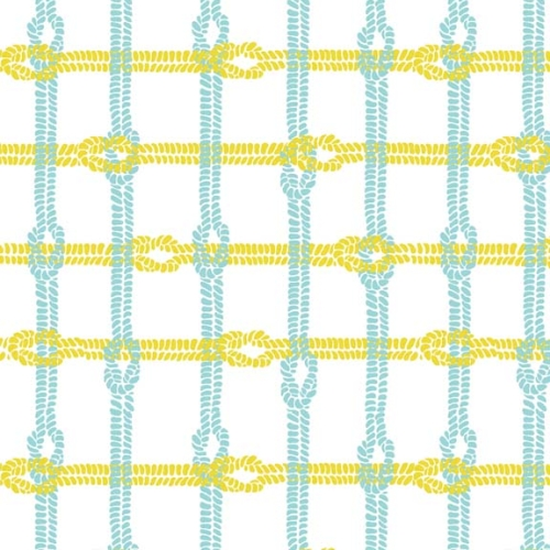 Riley Blake Designs - Maritime Modern Knotty Plaid in Citron